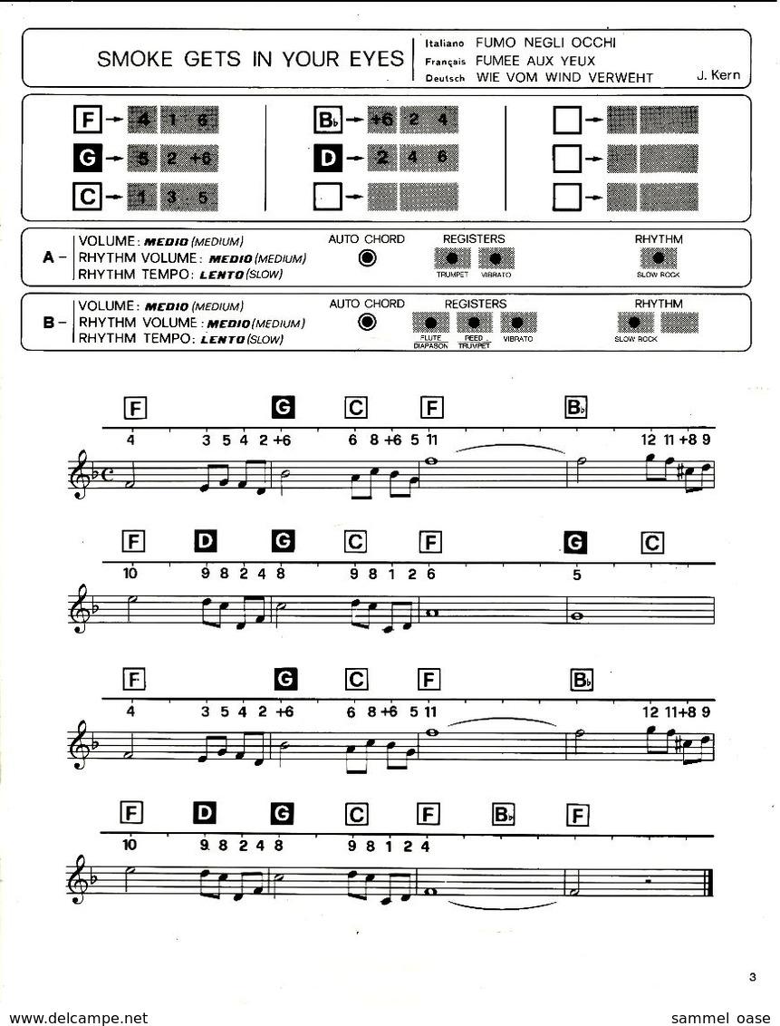 Bontempi Favorites 17 - Happy Memories  -   Notenheft / Notenbuch Keyboard Elektro Orgel - Varia