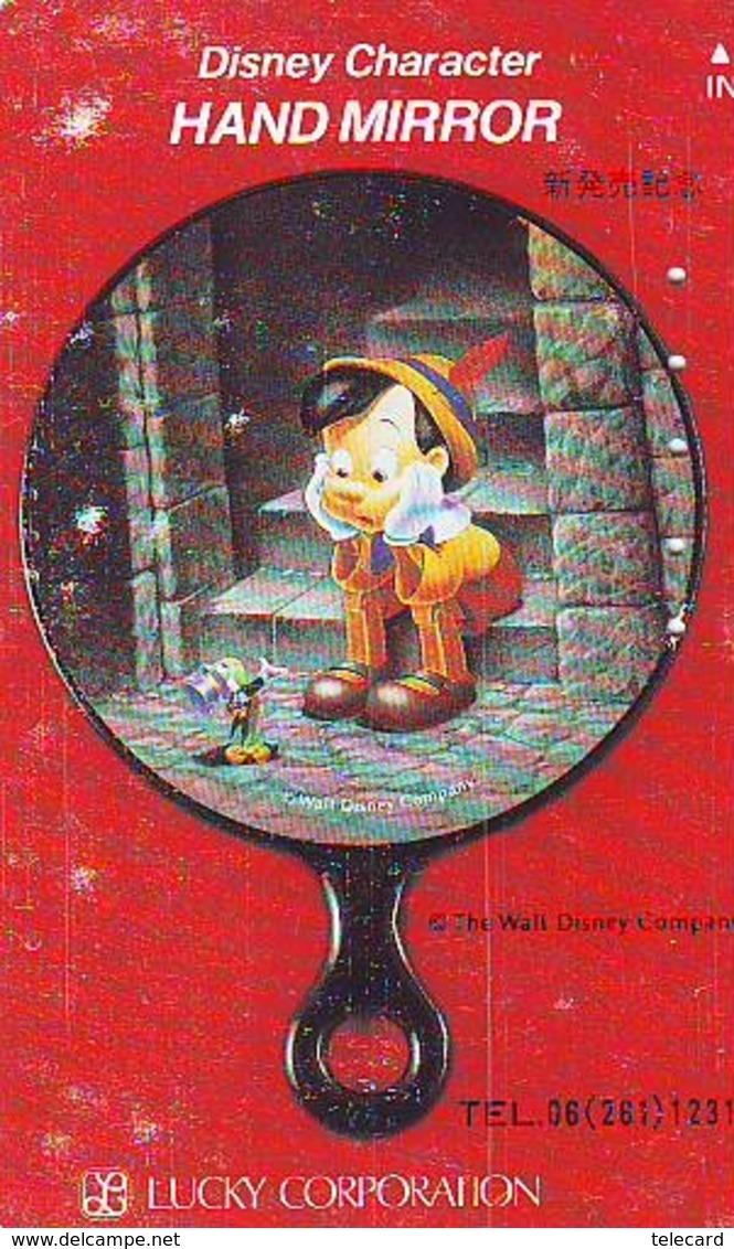 Télécarte Japon DISNEY / 110-011 * Série HAND MIRROR * PINOCCHIO (6023) Phonecard JAPAN * CINEMA TELEFONKARTE - Disney
