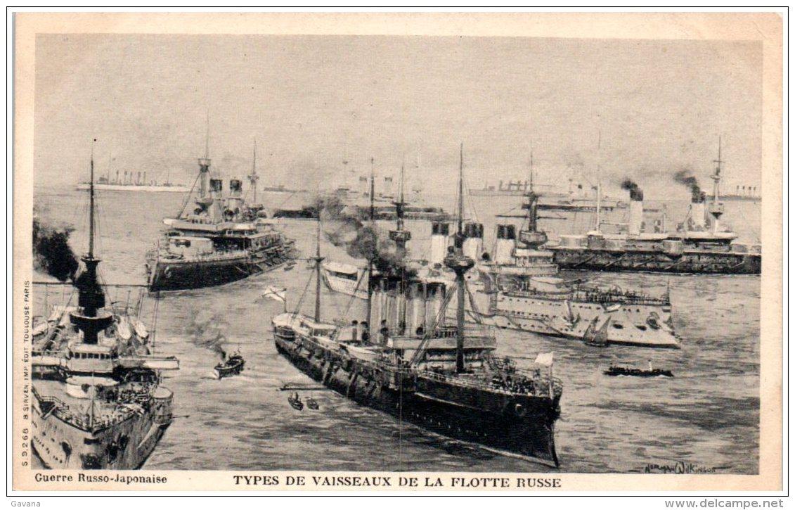 Guerre Russo-Japonaise - Types De Vaisseaux De La Flotte Japonaise - Japón