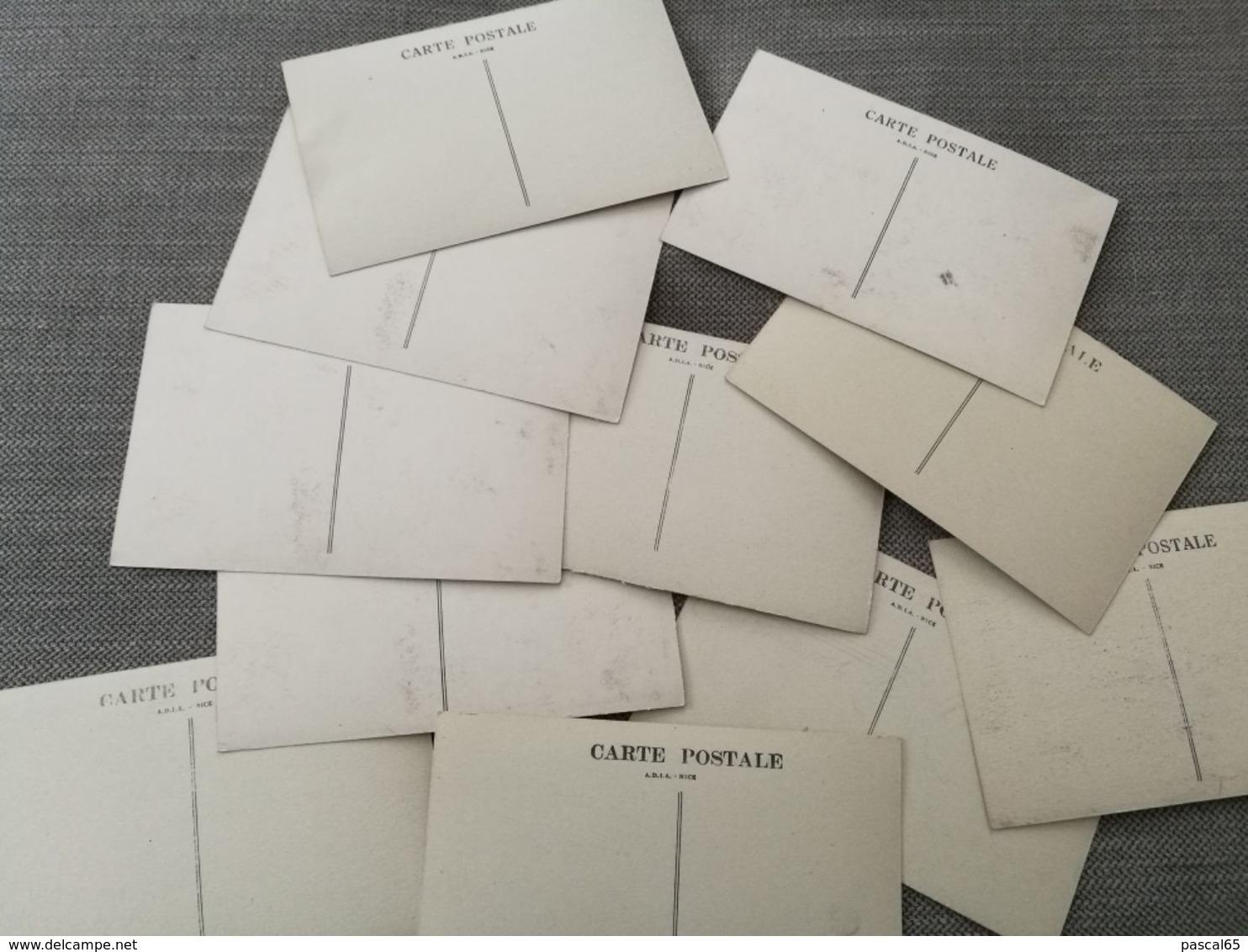 11 Cartes Postales Couleur Et Noir Et Blanc Carnaval De Nice 1875-1894 - Carnaval