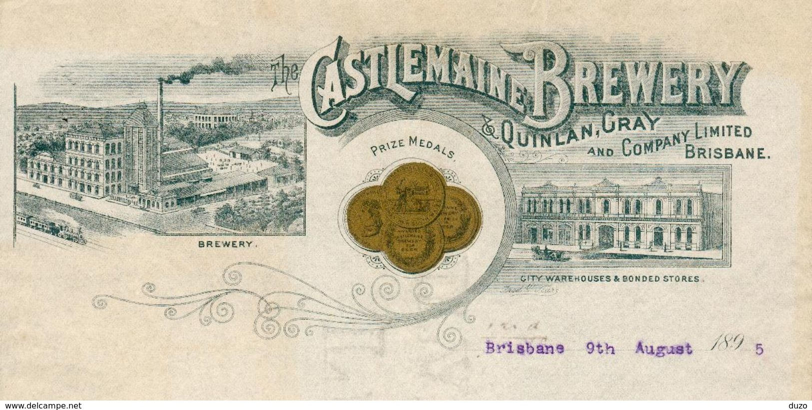 Australie -  Brisbane 1895 - Castlemaine Brewery & Quinlan.Gray And Company Limited Brisbane. - Australie