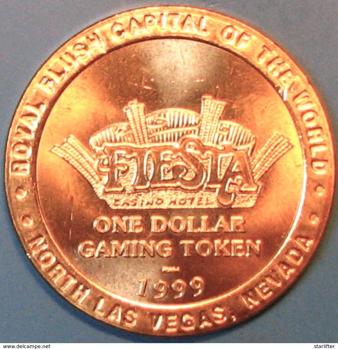 $1 Casino Token. Fiesta, N. Las Vegas, NV. 1999, Roxy's Pizza. J58. - Casino