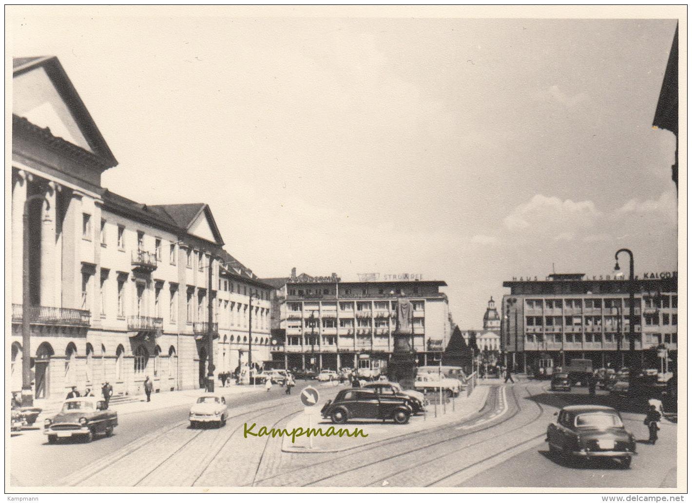 Opel Olympia Rekord,Lloyd,Mercedes 170,Ponton,Tram,Karlsruhe,Probeabzug,ungelaufen - Passenger Cars