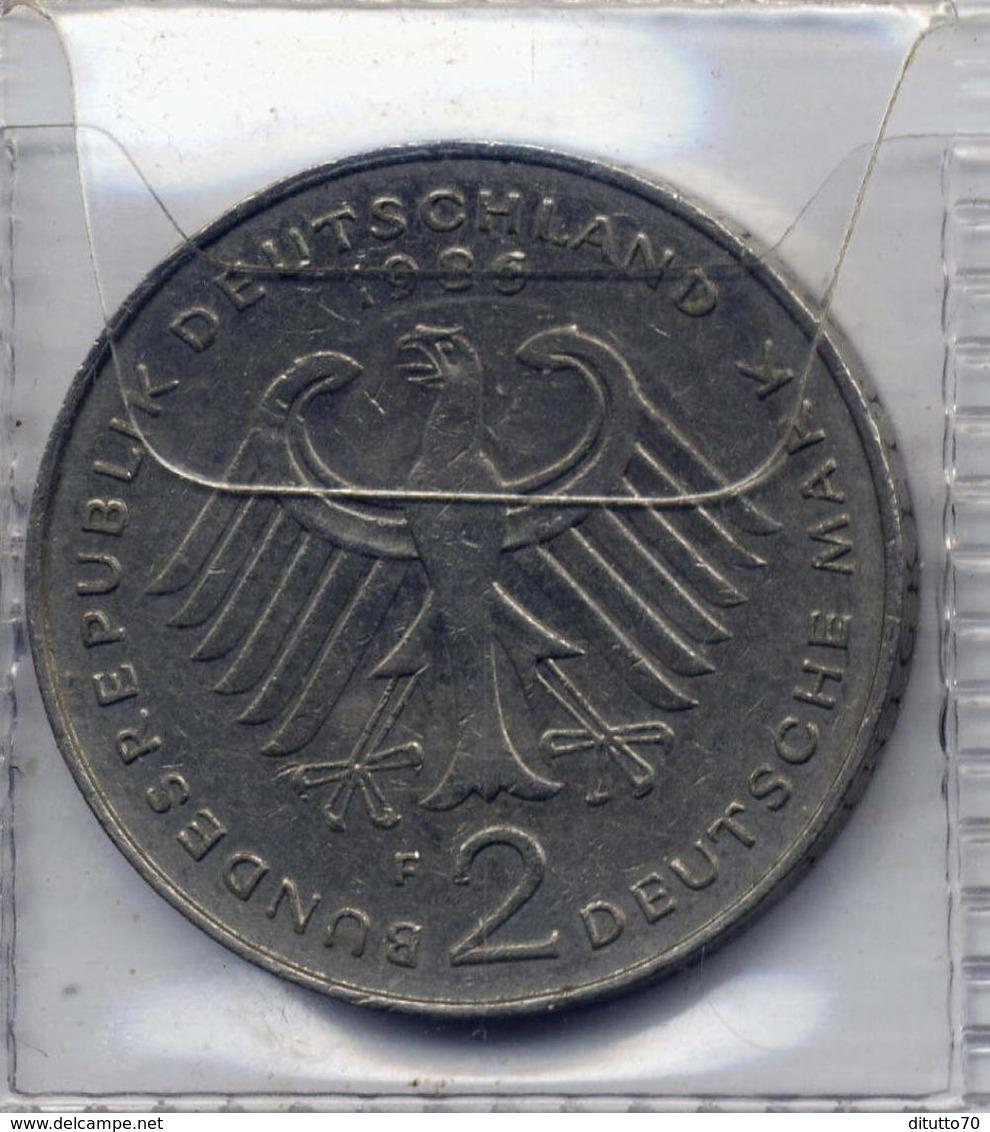 2 Deutsche Mark 1986 - F - [ 7] 1949-… : RFA - Rép. Féd. D'Allemagne