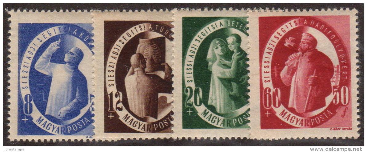 HUN SC #B195-8 MH (HR) 1947 S-P / Charitable Purposes CV $13.75 (if NH) - Hungary