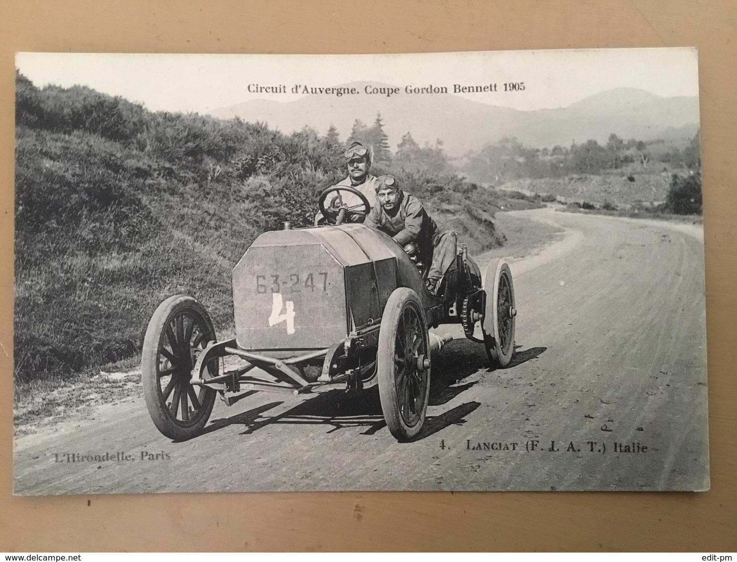 CIRCUIT D'AUVERGNE - COUPE GORDON BENNETT 1905 - Lancia ( FIAT) Italie - Otros