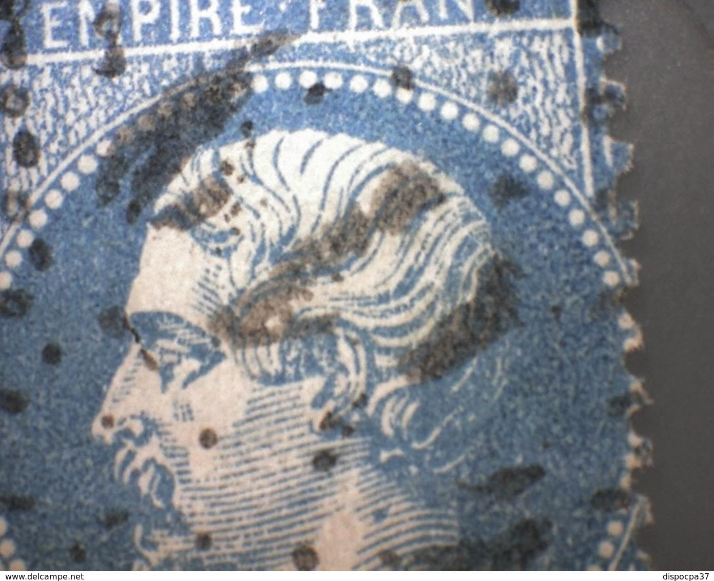 N° 22  GC   4119  VAUVERT   /  GARD  - REF 9820 + PIQUAGE - 1862 Napoleon III