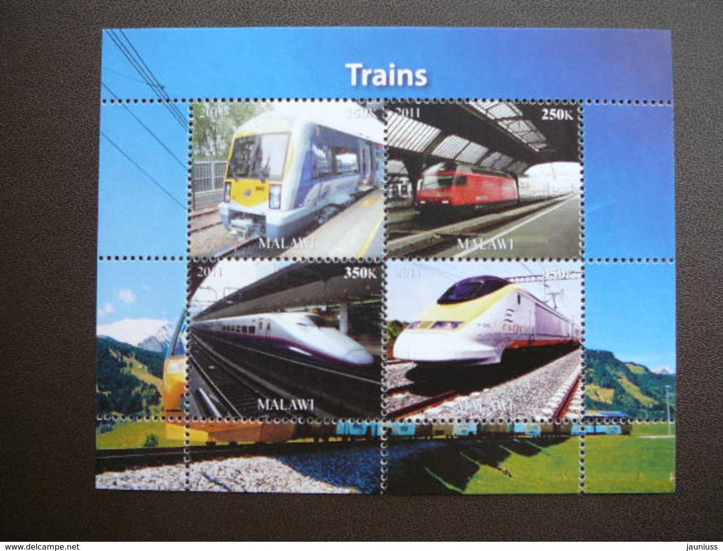 Trains. Züge. Vapeurs # 2011 MNH S/s # (1859) # Locomotives Transport - Trains