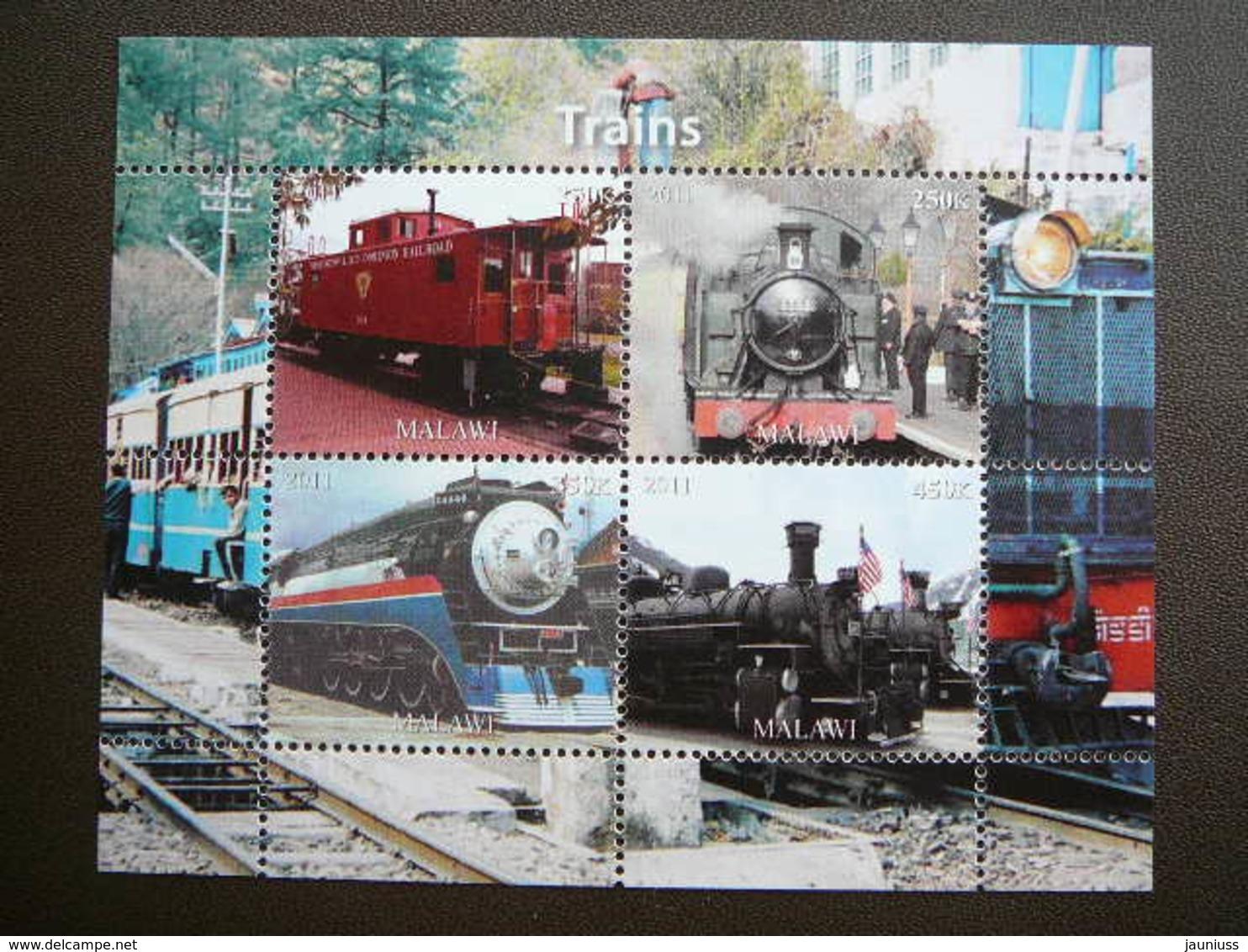 Trains. Züge. Vapeurs # 2011 MNH S/s # (1861) # Locomotives Transport - Trains