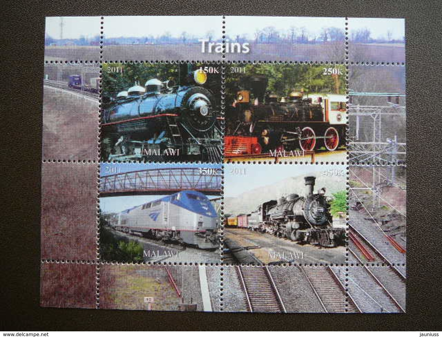 Trains. Züge. Vapeurs # 2011 MNH S/s # (1862) # Locomotives Transport - Treinen