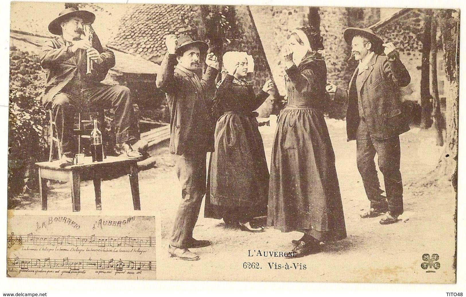 """AUVERGNE - Vis-à-Vis - """"La Bourreio D'Aubergno"""" - Auvergne"""
