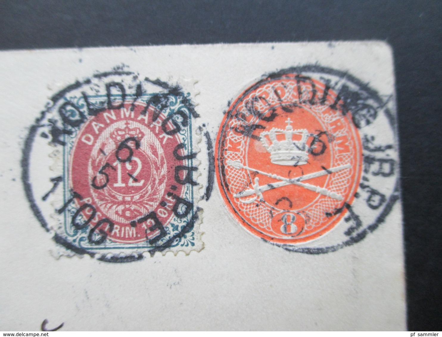 Dänemark 1898 Ganzsachenumschlag Mit Zusatzfrankatur.Kolding JB. P.E. An Die Fischerei Zeitung Neudamm Prov. Brandenburg - Briefe U. Dokumente