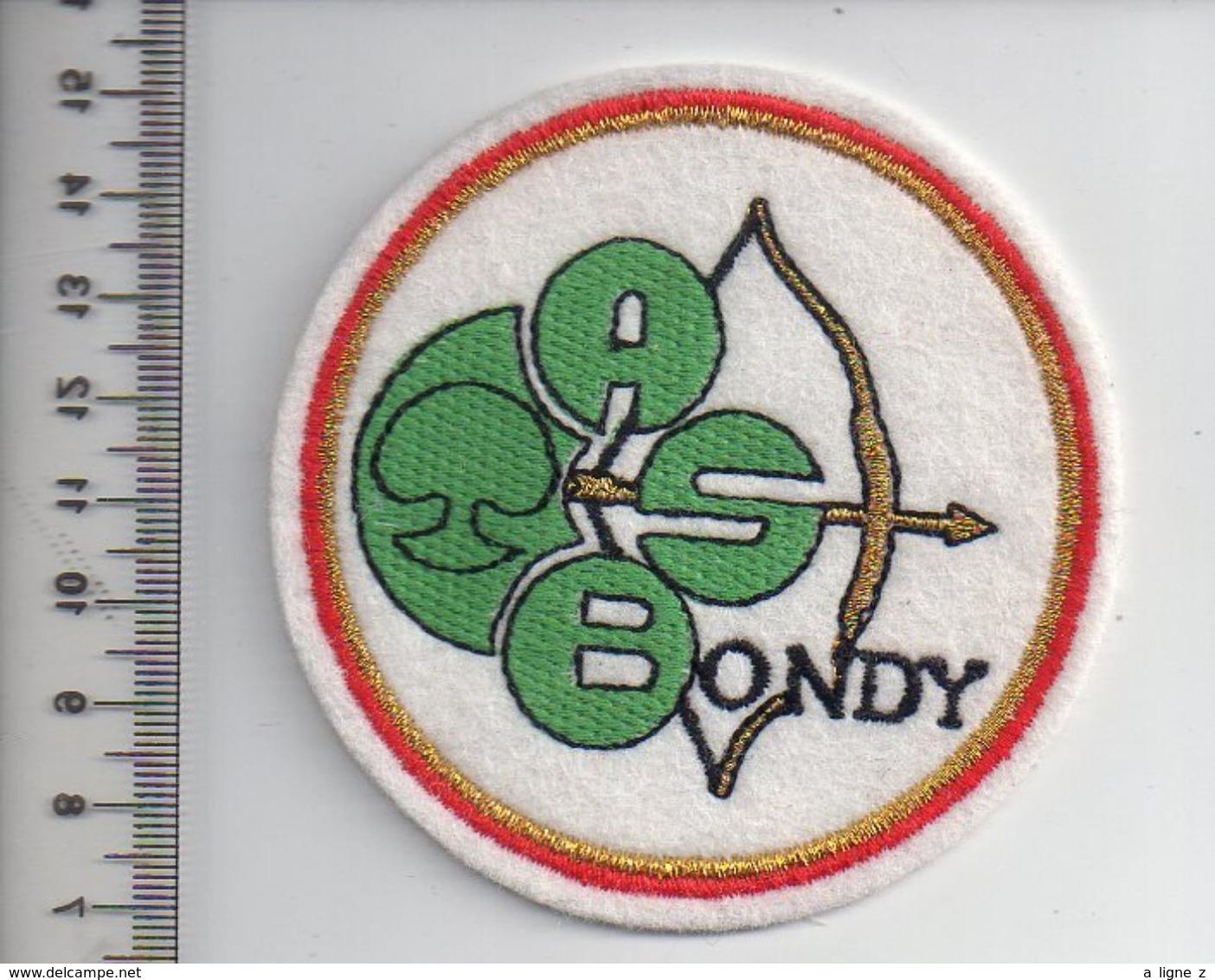REF 10 : Écusson Patch Thème TIR A L'ARC Archerie Archer BONDY - Tiro Con L'Arco