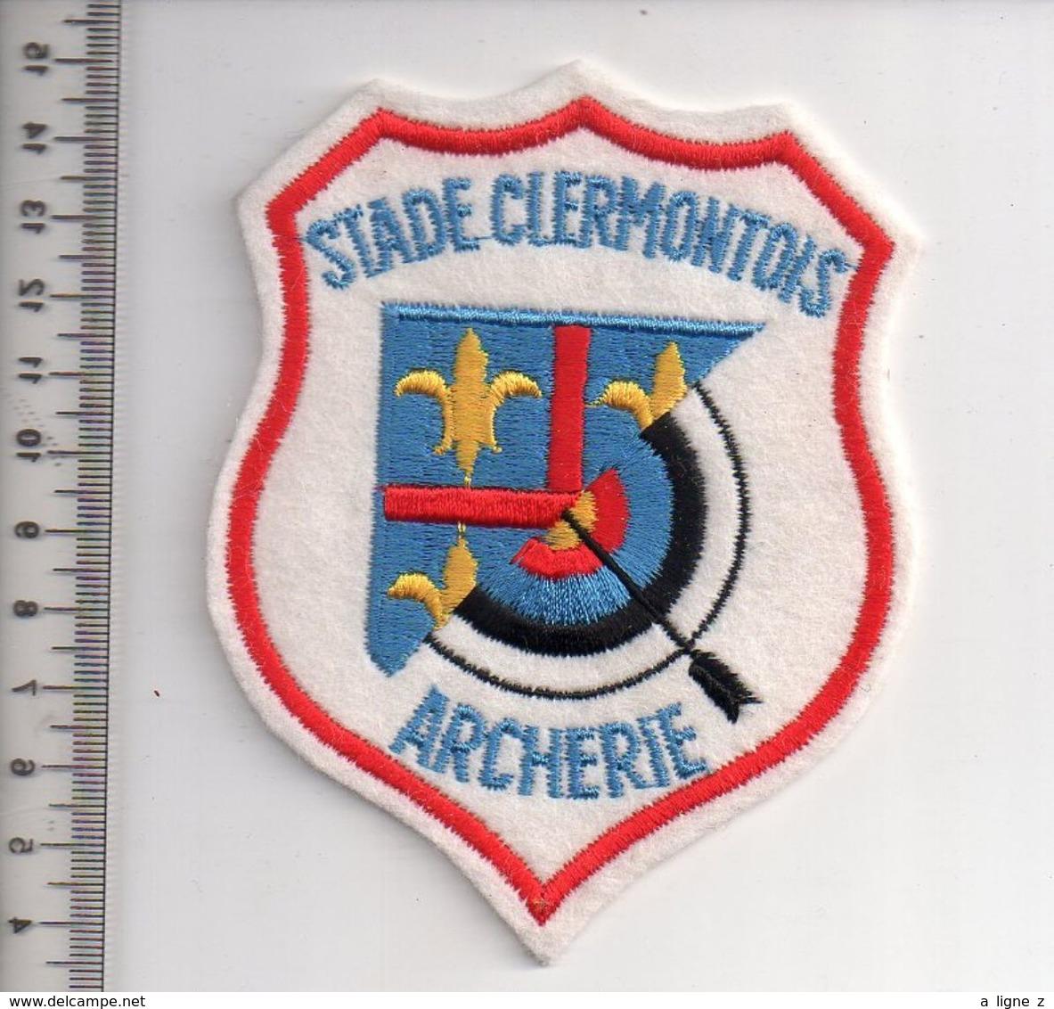 REF 10 : Écusson Patch Thème TIR A L'ARC Archerie Archer Arc Club Stade Clermontois - Tiro Con L'Arco