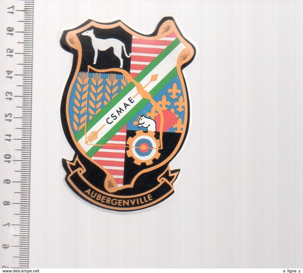 REF 10 : Autocollant Sticker Thème TIR A L'ARC Archerie Archer Compagnie Club Aubergenville - Tir à L'Arc
