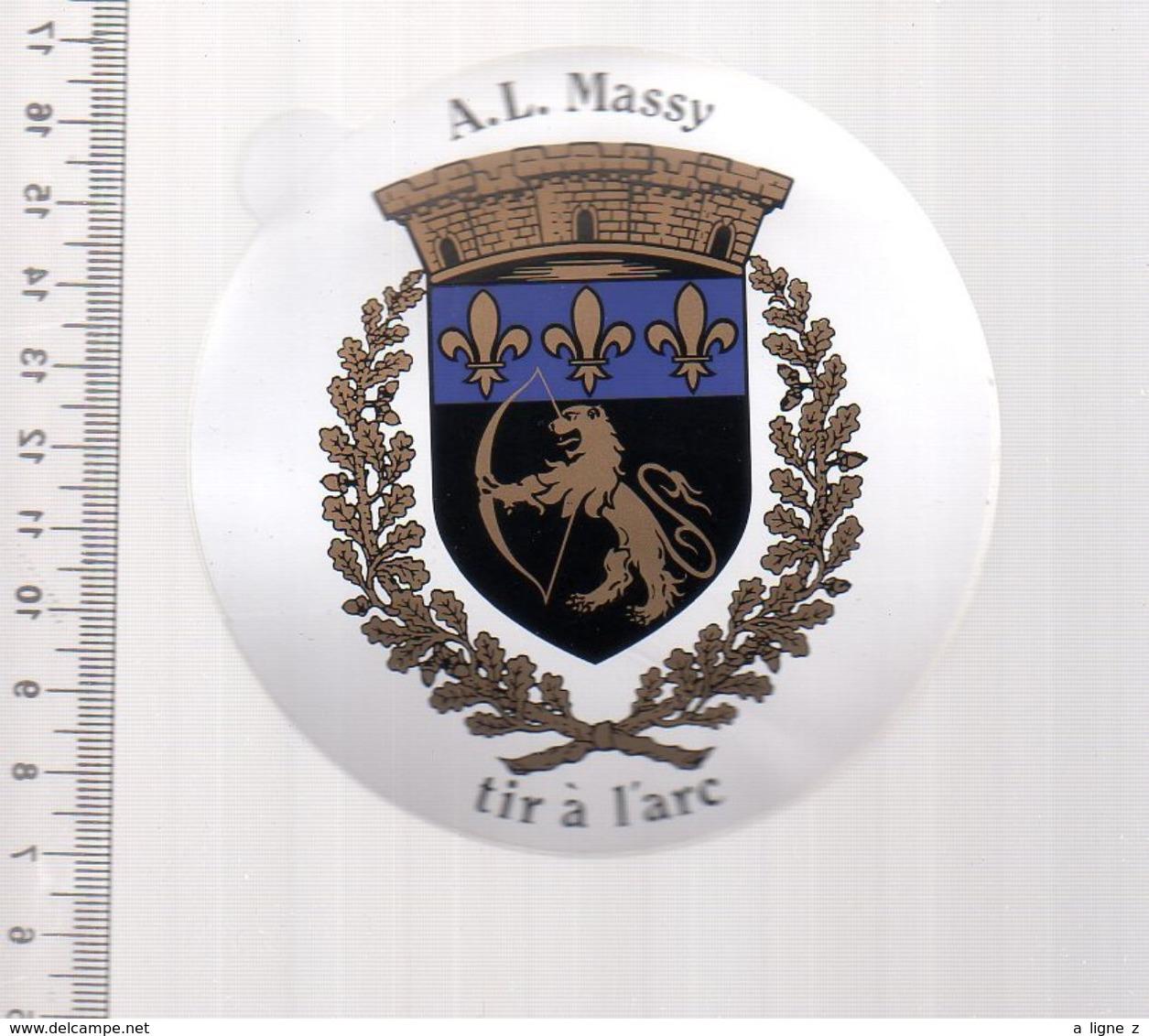 REF 10 : Autocollant Sticker Thème TIR A L'ARC Archerie Archer Compagnie Club Massy - Tir à L'Arc