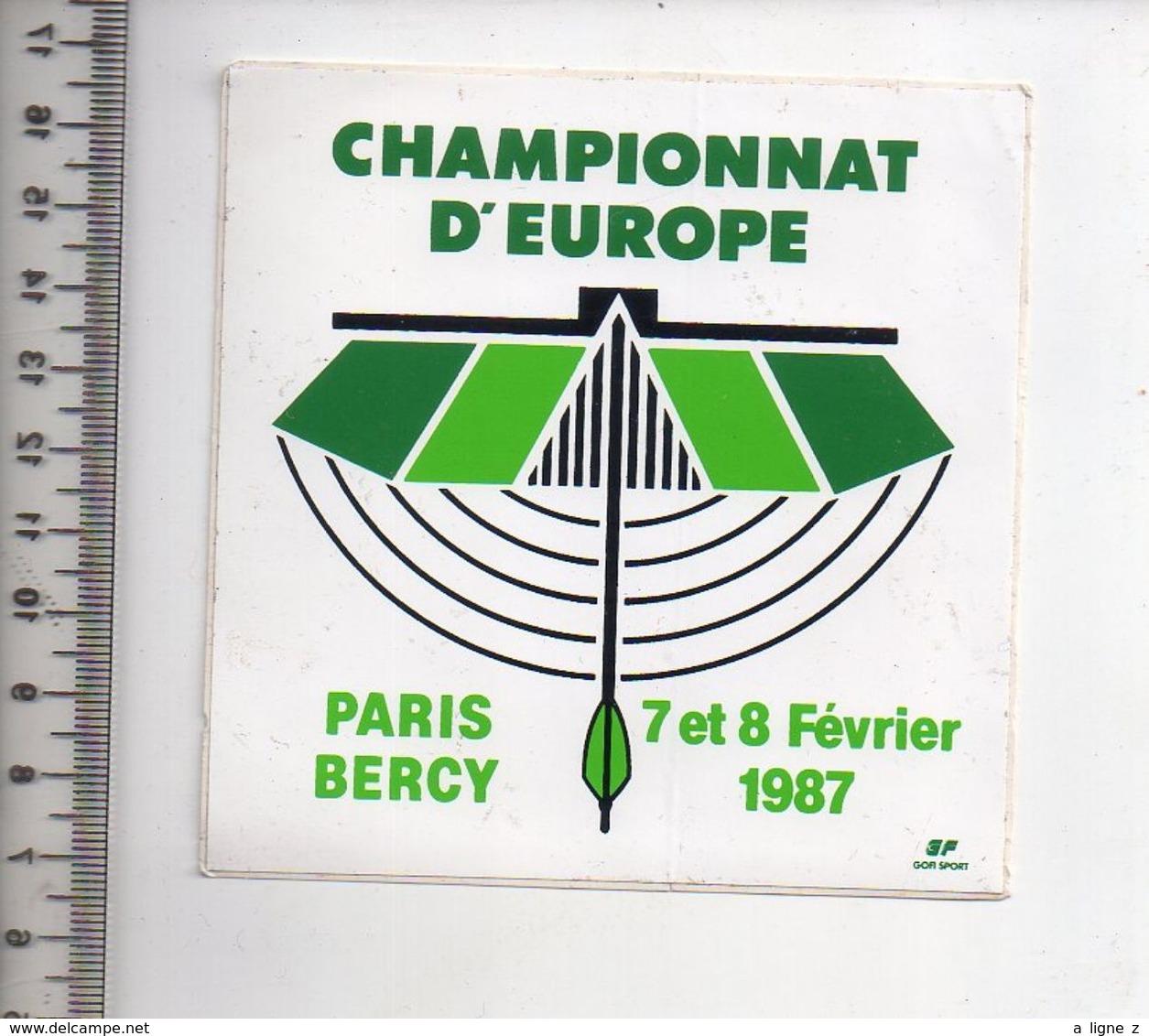 REF 10 : Autocollant Sticker Thème TIR A L'ARC Archerie Archer Compagnie Paris Bercy - Tiro Al Arco