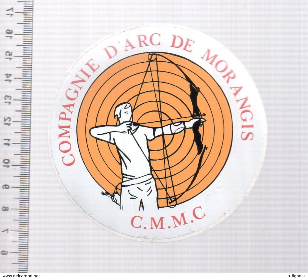 REF 10 : Autocollant Sticker Thème TIR A L'ARC Archerie Archer Compagnie Morangis - Tir à L'Arc