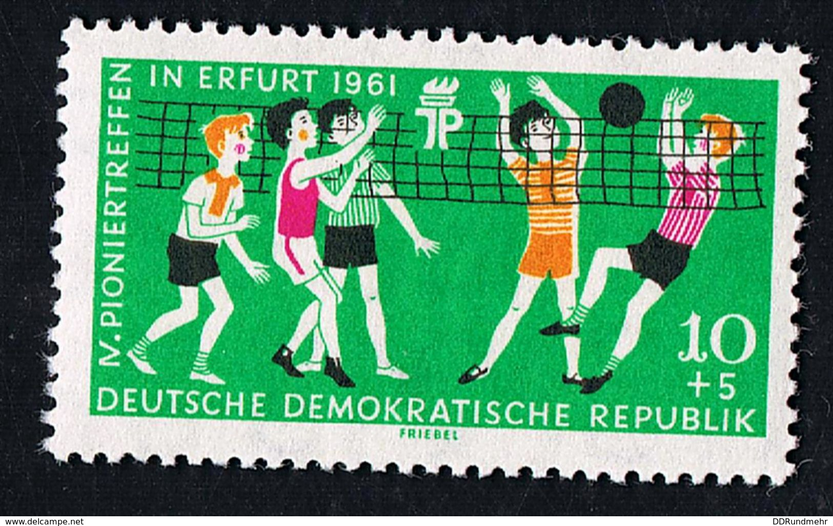 25.Mai 1961 Pioniertreffen Erfurt, Michelkatalognummer 827, Seltene Wasserzeichen-Abart 3 X  In Postfrisch Xx - Abarten