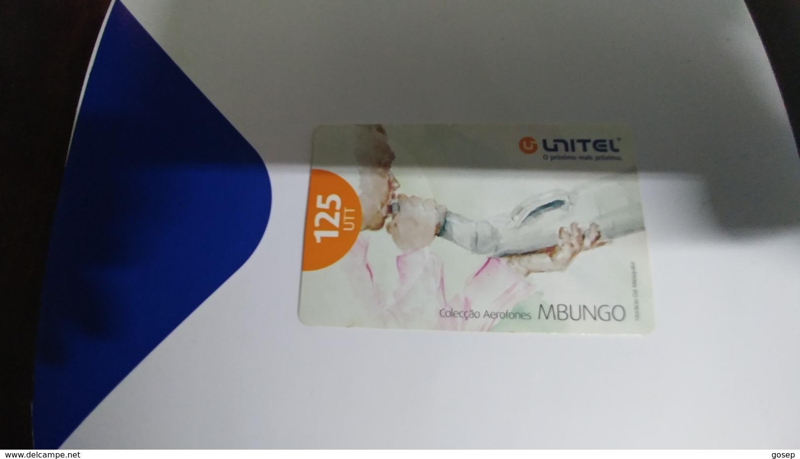 Angola-mbungo-(17)-(125utt)-31.12.2008-used+1card Prepiad Free - Angola