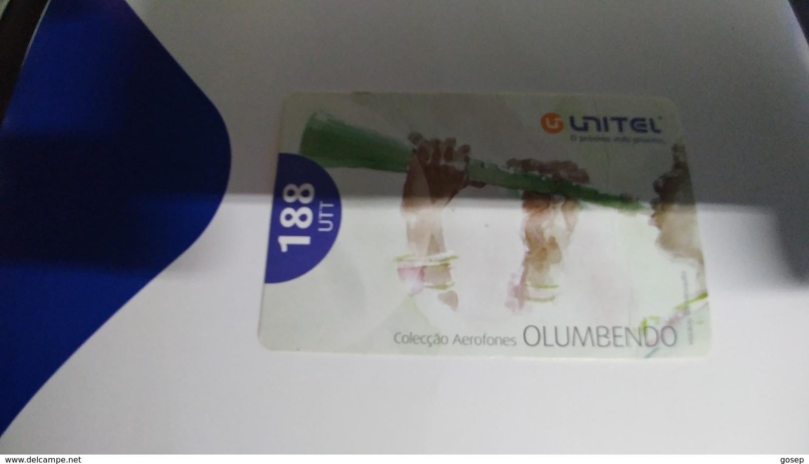 Angola-olumbendo-(24)-(188utt)-22.8.2008-used+1card Prepiad Free - Angola