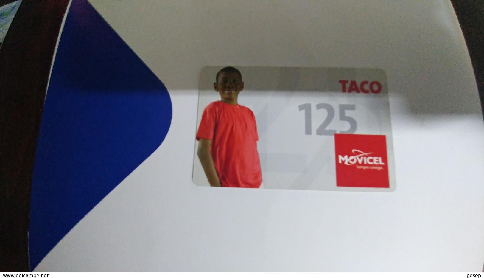 Angola-movicel-(46)-boy(taco125-125utt)-used+1card Prepiad Free - Angola