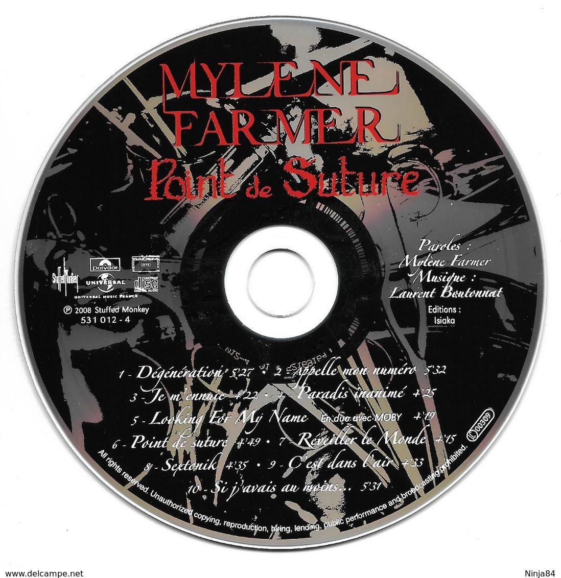 "Mylène Farmer  ""  Point De Suture   "" - Unclassified"