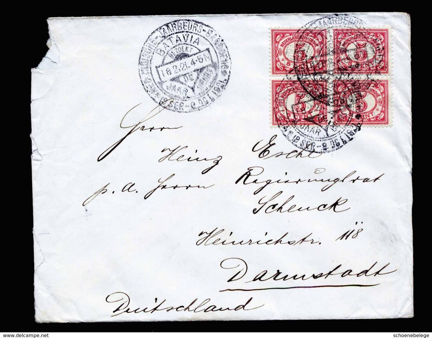 A5148) Netherlands Indies Cover Batavia 18.2.21 To Germany - Niederländisch-Indien
