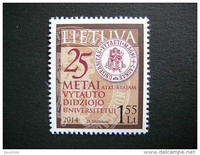 Vytautas Magnus University Restoration # Lietuva Litauen Lituanie Litouwen Lithuania # 2014 MNH # Mi. 1154 - Lituanie