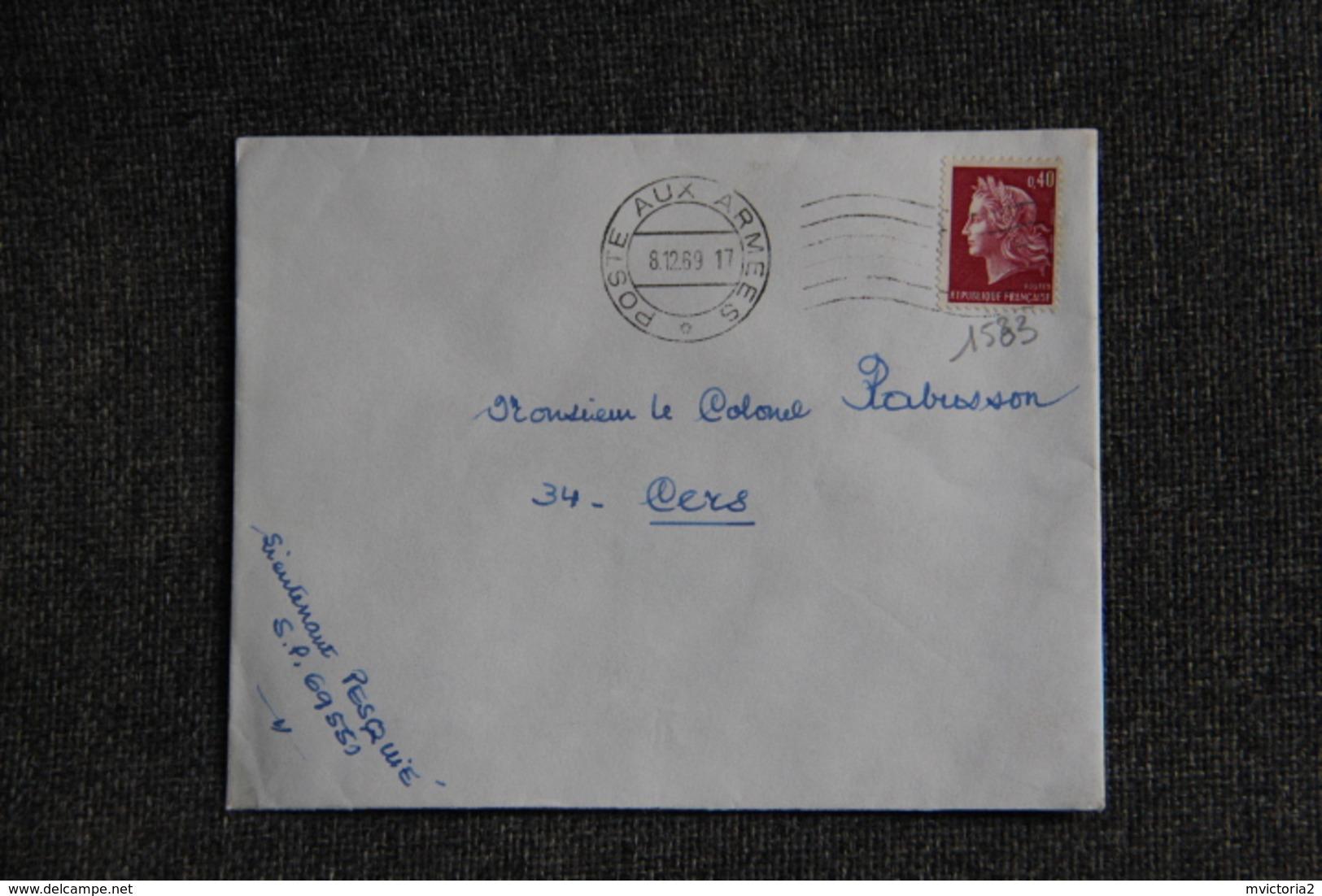 Lettre De Poste Aux Armées Vers CERS ( N°1583 ) - France