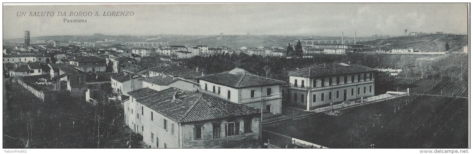 CARTOLINA NUOVA NON VIAGGIATA DOPPIA ANNI 30 BORGO SAN LORENZO (RX576 - Firenze