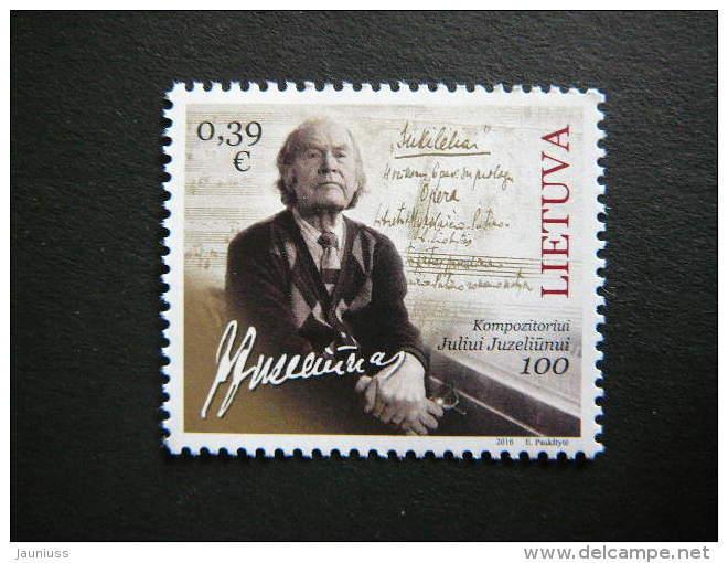 J.Juzeliunus. Music # Lietuva Litauen Lituanie Litouwen Lithuania # 2016 MNH # Mi. 1213 - Lithuania