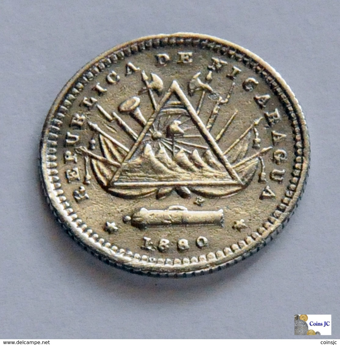 Nicaragua - 5 Centavos - 1880 - Nicaragua