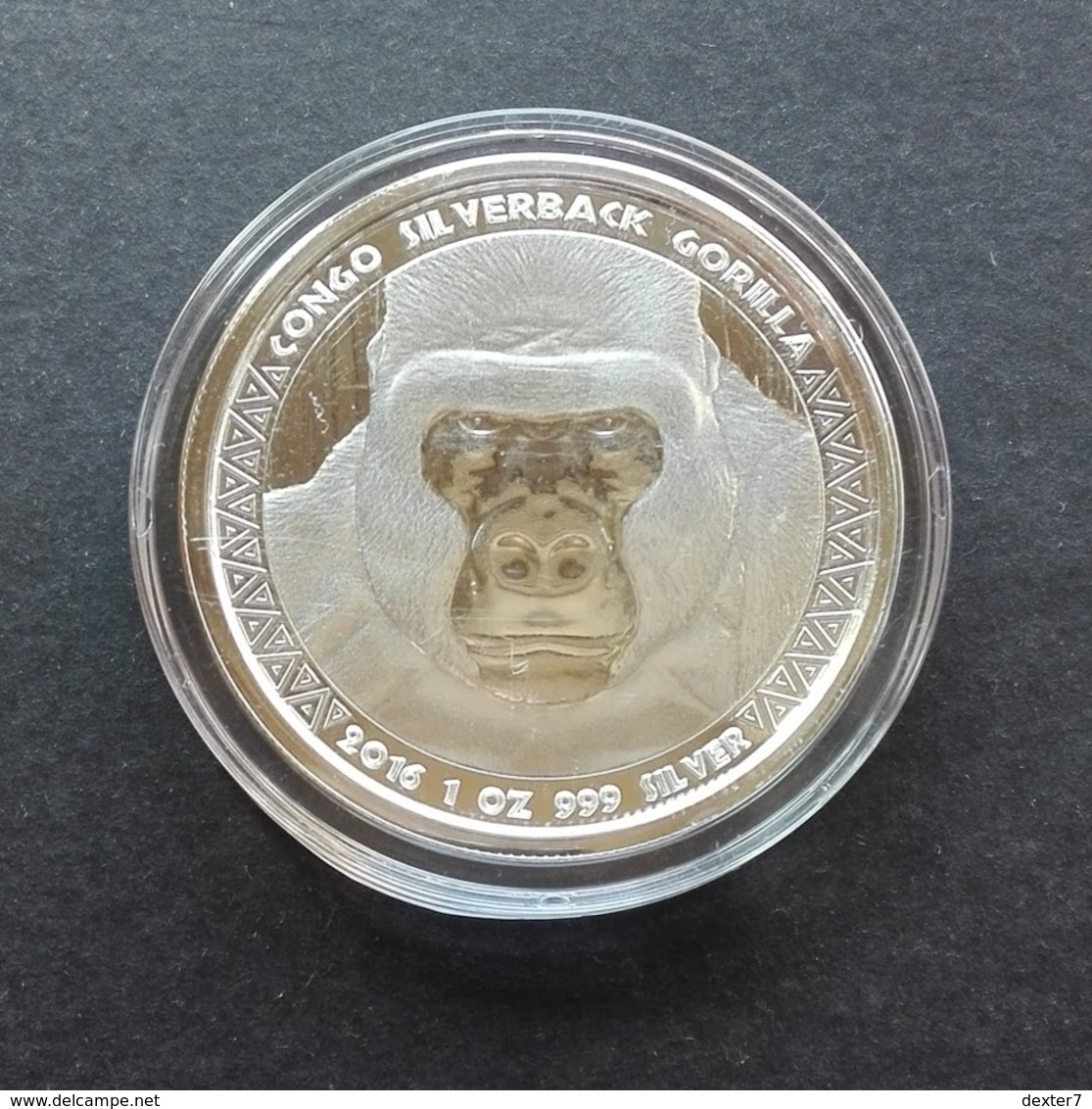 Congo, Gorilla 1 Oz 2016 Silver 999 Pure - 1 Oncia Argento Puro Bullion Scottsdale Mint - Congo (Repubblica Democratica 1998)