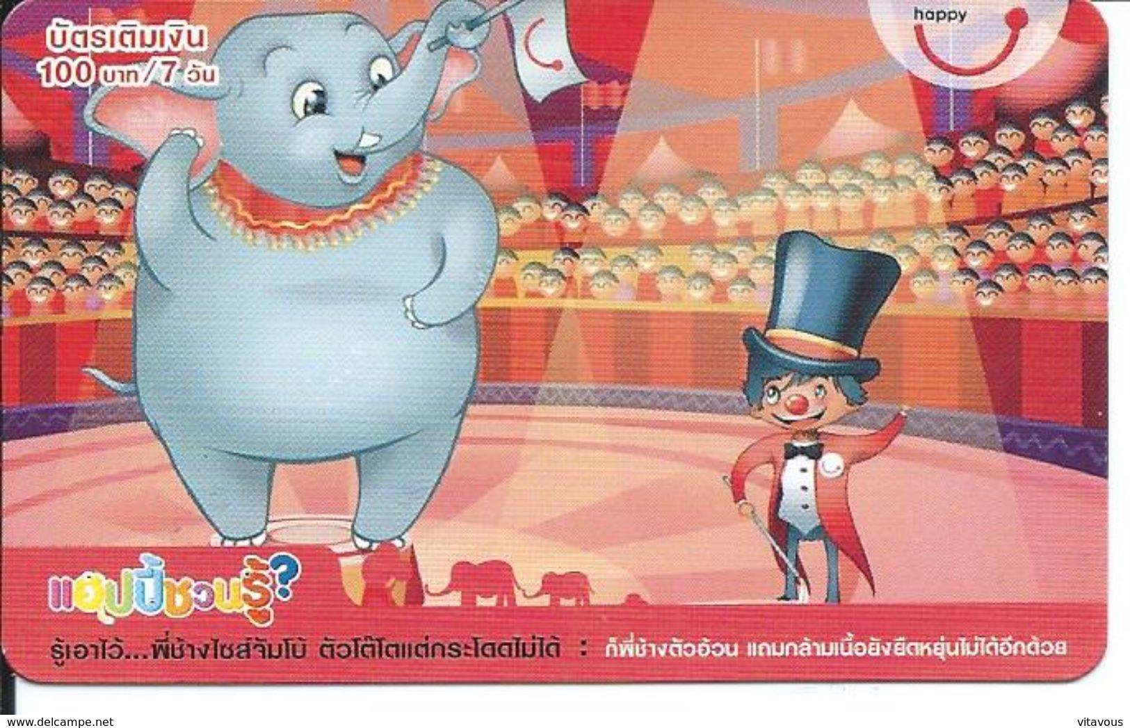 BD Cirque Circus éléphant Elephant Animal Carte Card  (D 279) - Thaïlande