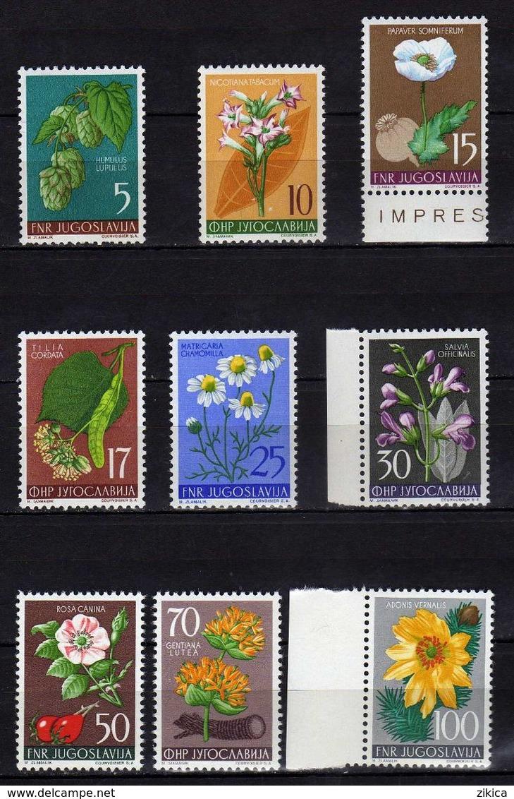 Yugoslavia 1955 Flowers - Flora, MNH (**) Michel 765-773 - 1945-1992 Repubblica Socialista Federale Di Jugoslavia
