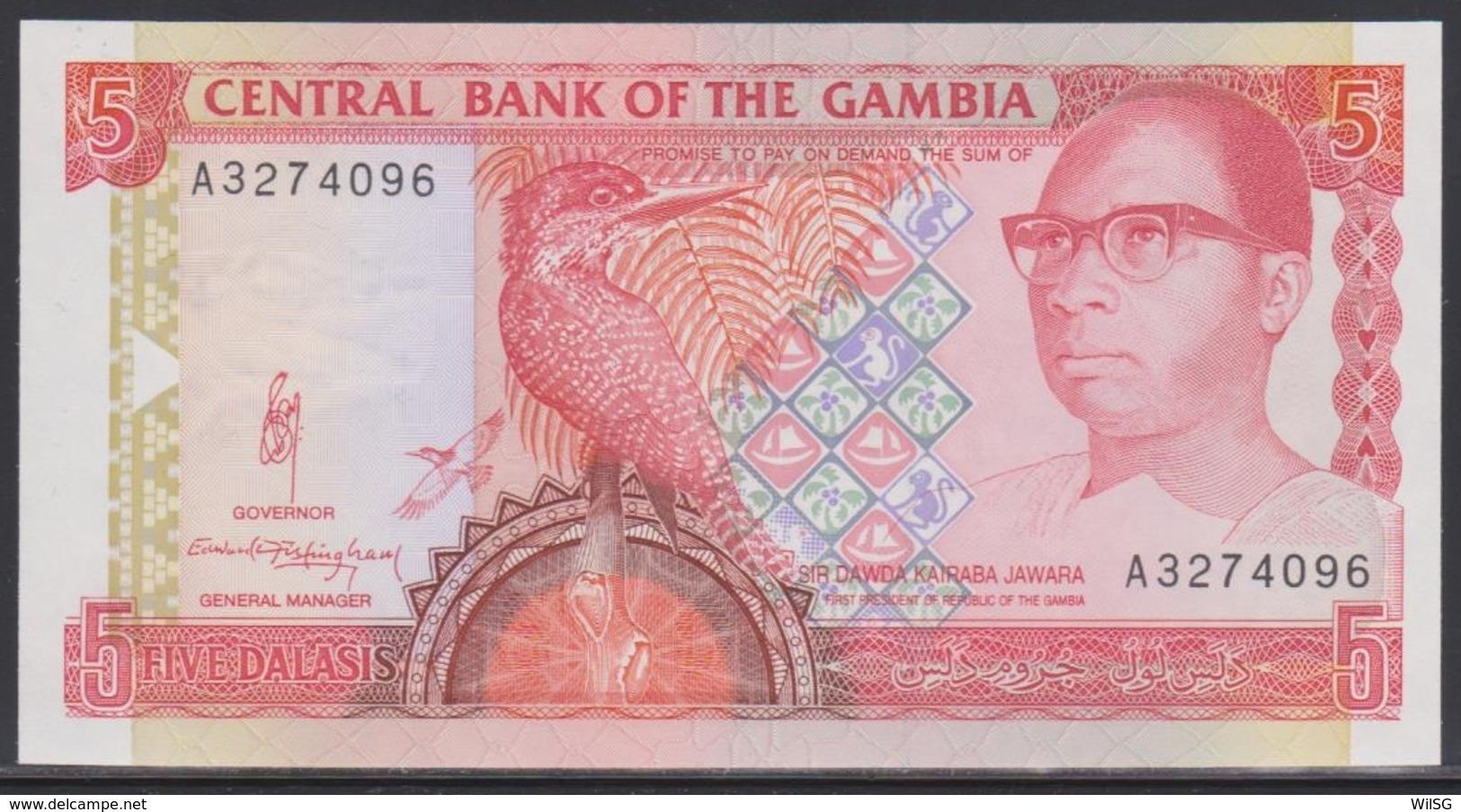 Gambia 5 Dalasis (ND 1991-1995) UNC - Gambia
