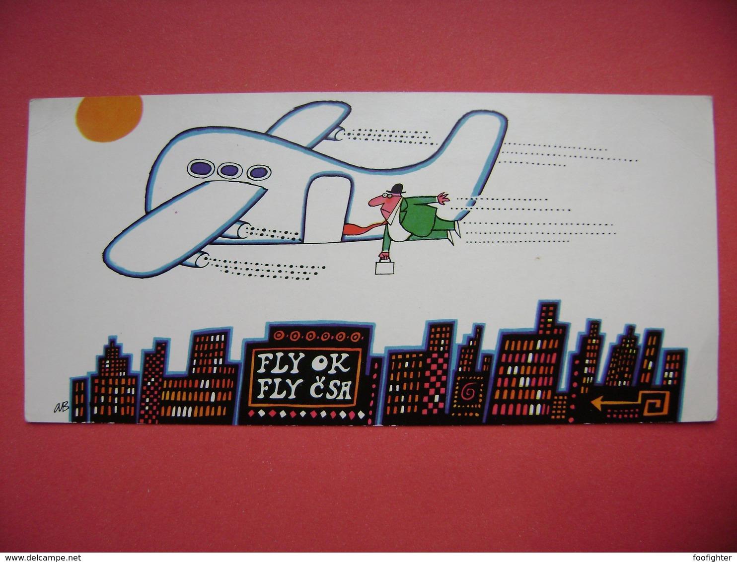 Czechoslovakia - Fly OK * Fly CSA - Artist Adolf Born For Czechoslovak Airlines (Awards: Palmo D'oro Bordighera 1968) - Reclame