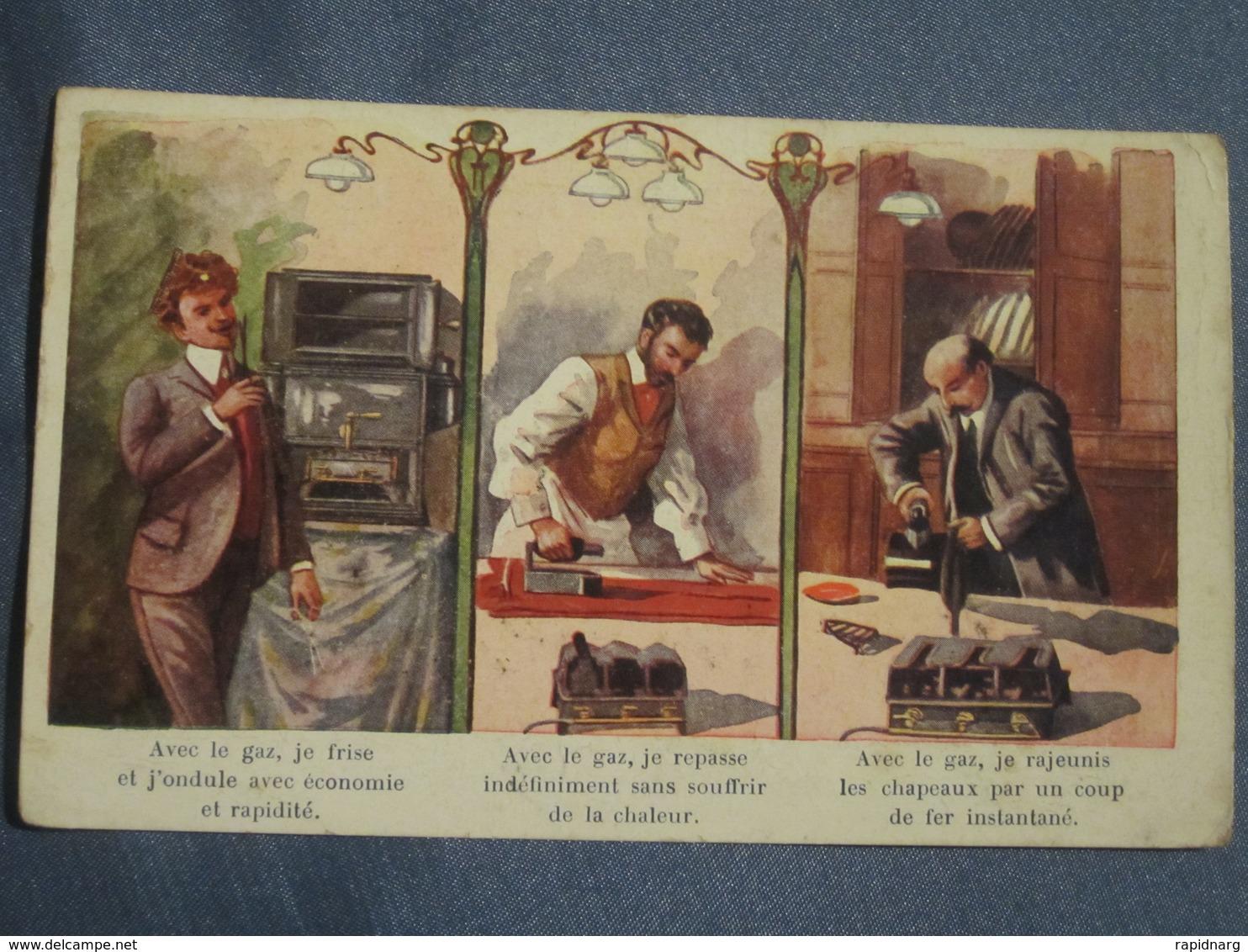 C.P.A - RÉCLAME POUR LE GAZ - PUBLICITÉ. - Postcards