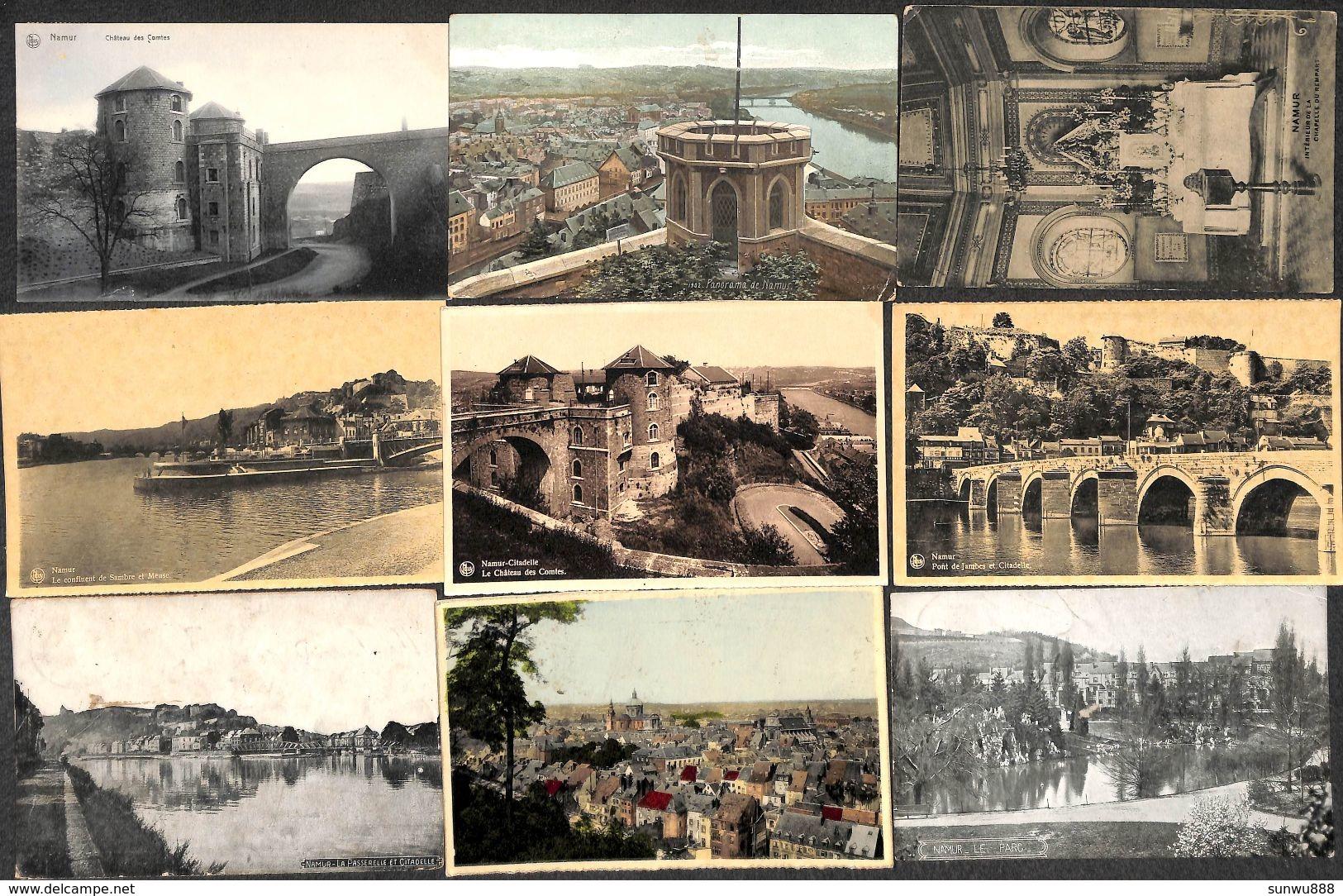 Namur - Lot De 9 Cartes (animée, Couleur, Précurseur,....voir Scans) (Lot 19) - Namur