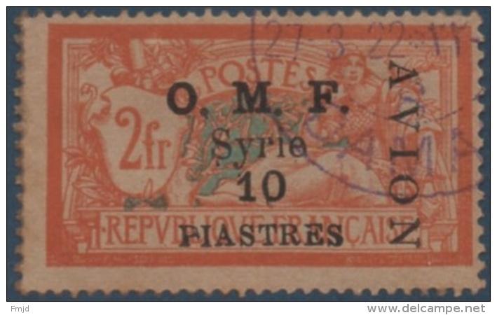 SYRIE AERIEN N°9 OBLITERE - Syrie (1919-1945)