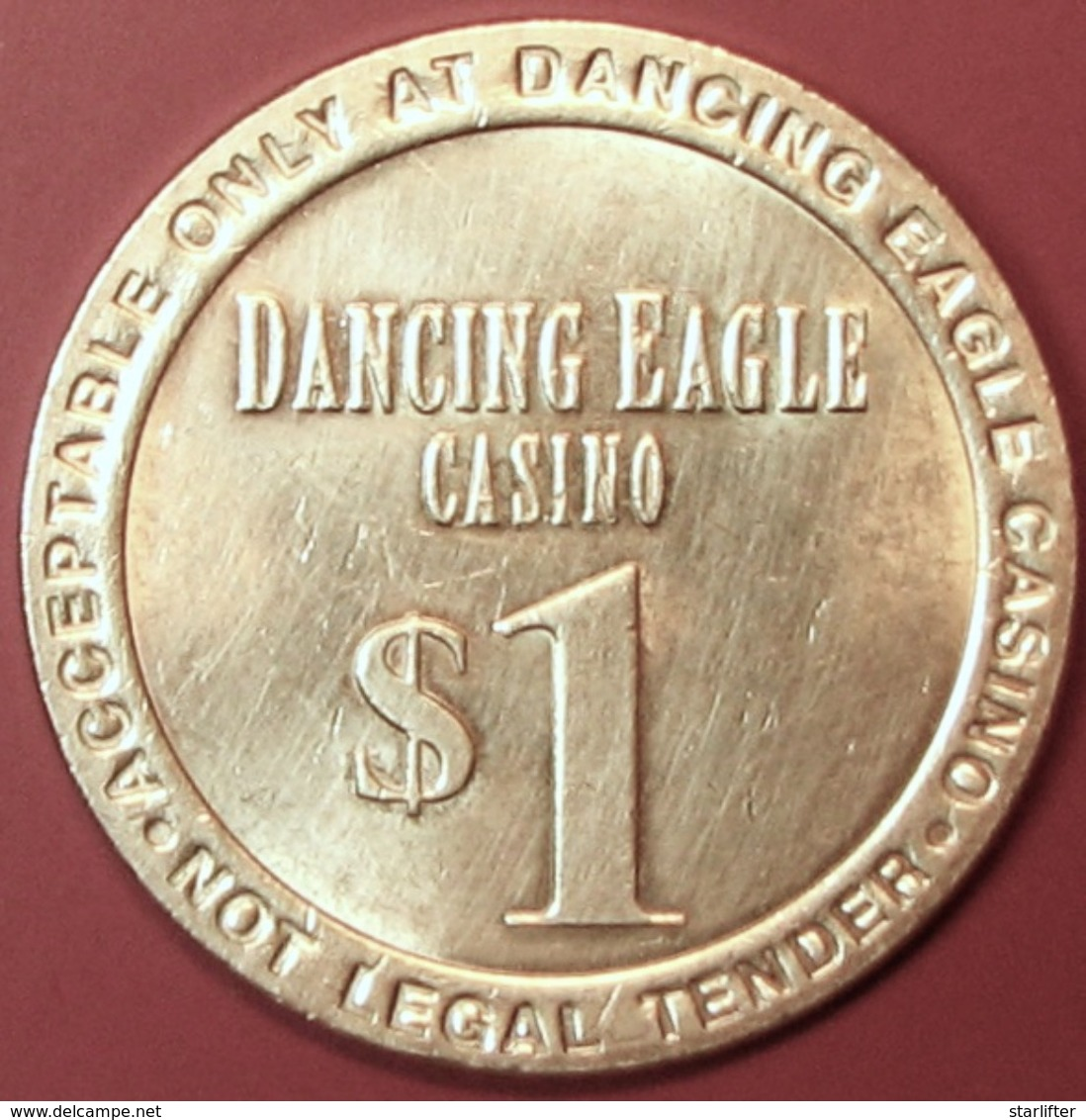 $1 Casino Token. Dancing Eagle, Casa Blanca, NM. H09. - Casino