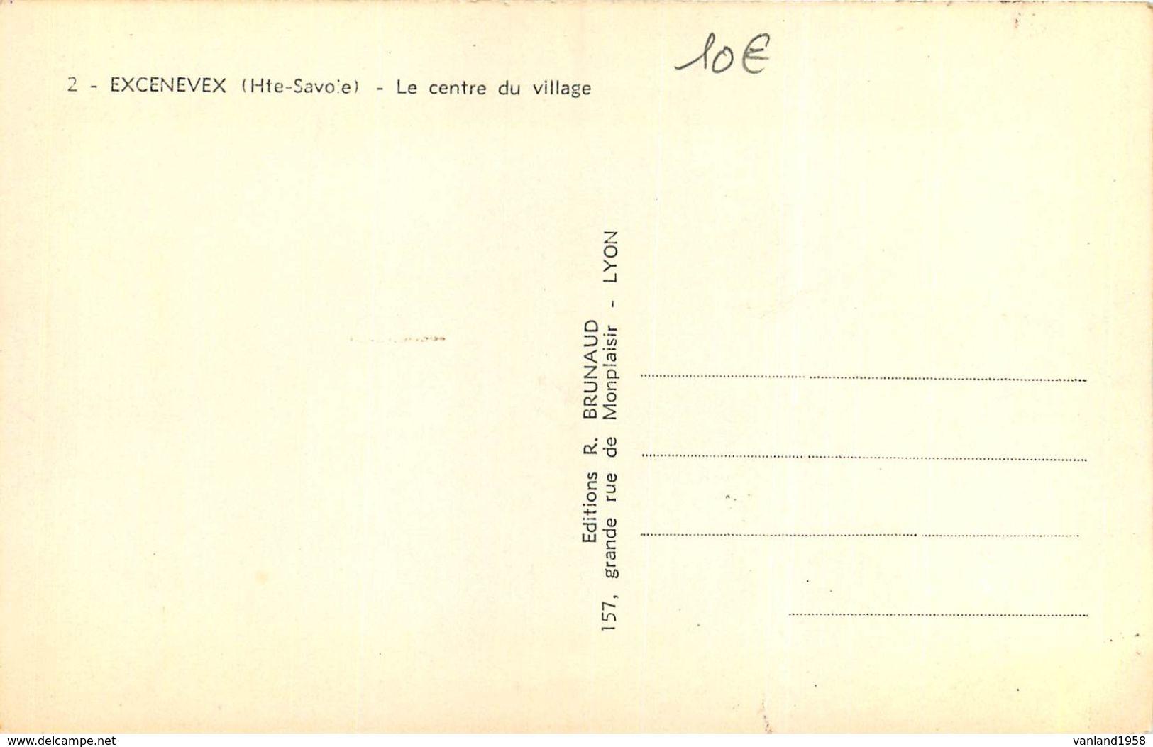 Carte Semie Moderne Petit Format De EXCENEVEX-le Centre Du Village - Autres Communes