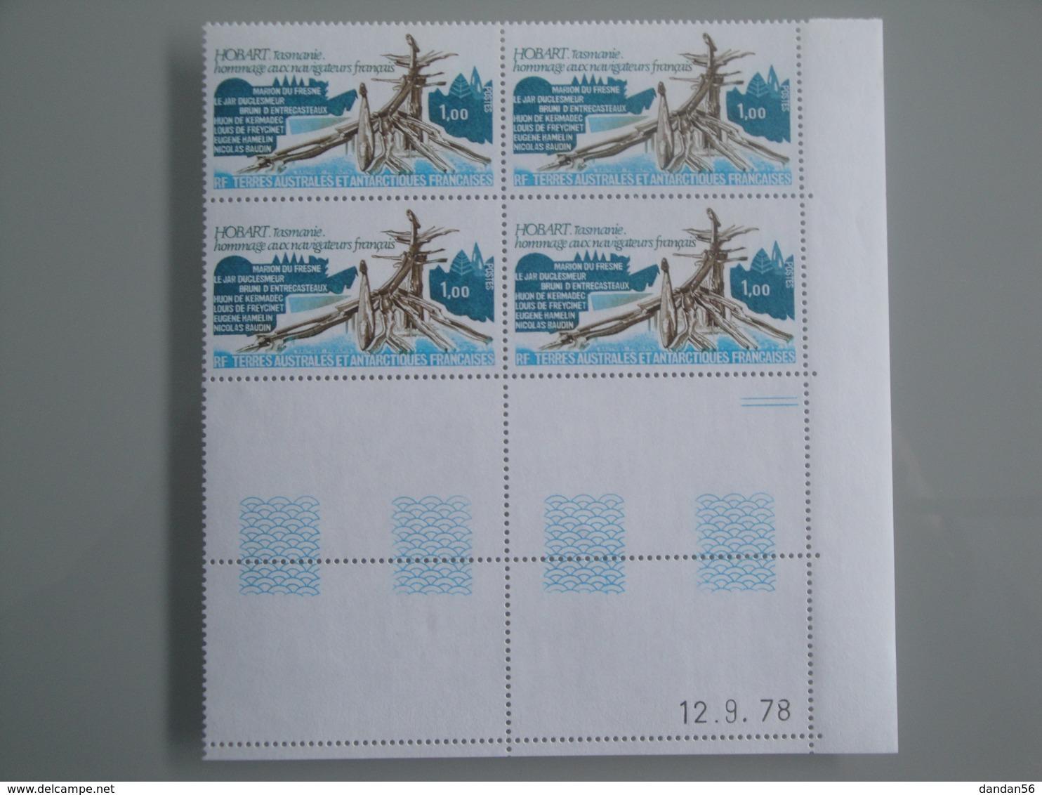 1978 TAAF SFAT Yv  77 X 4   **  Hobart Tasmanie Scott 81  Michel 126 SG 127 - Terres Australes Et Antarctiques Françaises (TAAF)