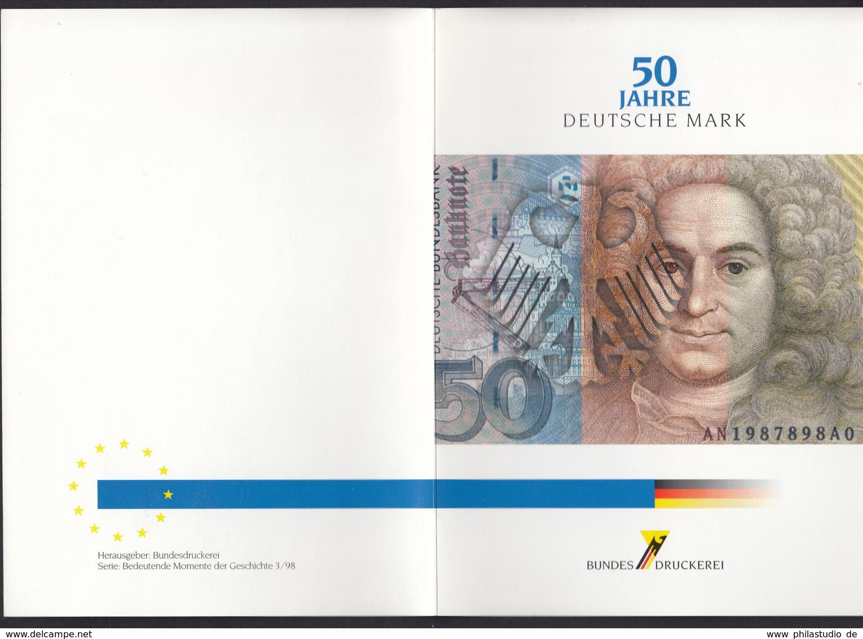 Bundes Druckerei 50 Jahre Deutsche Mark Bedeutende Momente Der Geschichte 3/98 - BRD