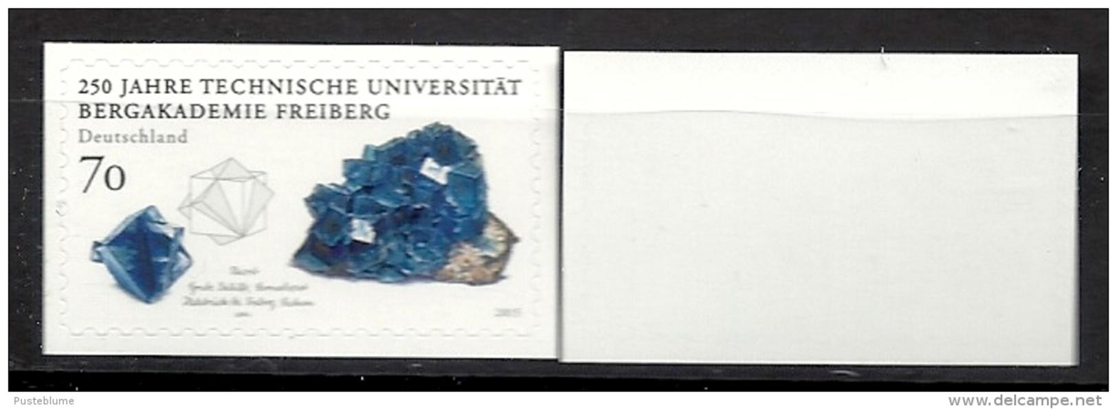 Deutschland / Germany / Allemagne 2015 3198 ** Selbstklbend Self-adhesive Bergakademie Freiberg (03. 12. 2015) Weiße Rüc - BRD