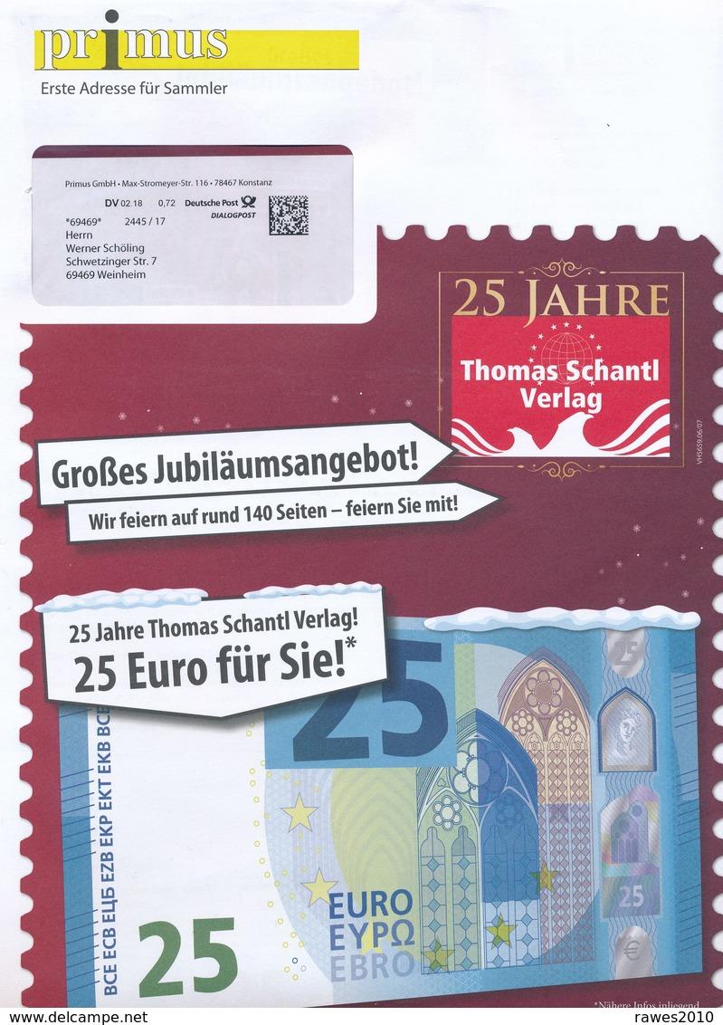BRD Konstanz Dialogpost DV 02.18 0,72 Euro 2018 Primus GmbH 25 Jahre Thomas Schantl Verlag - BRD