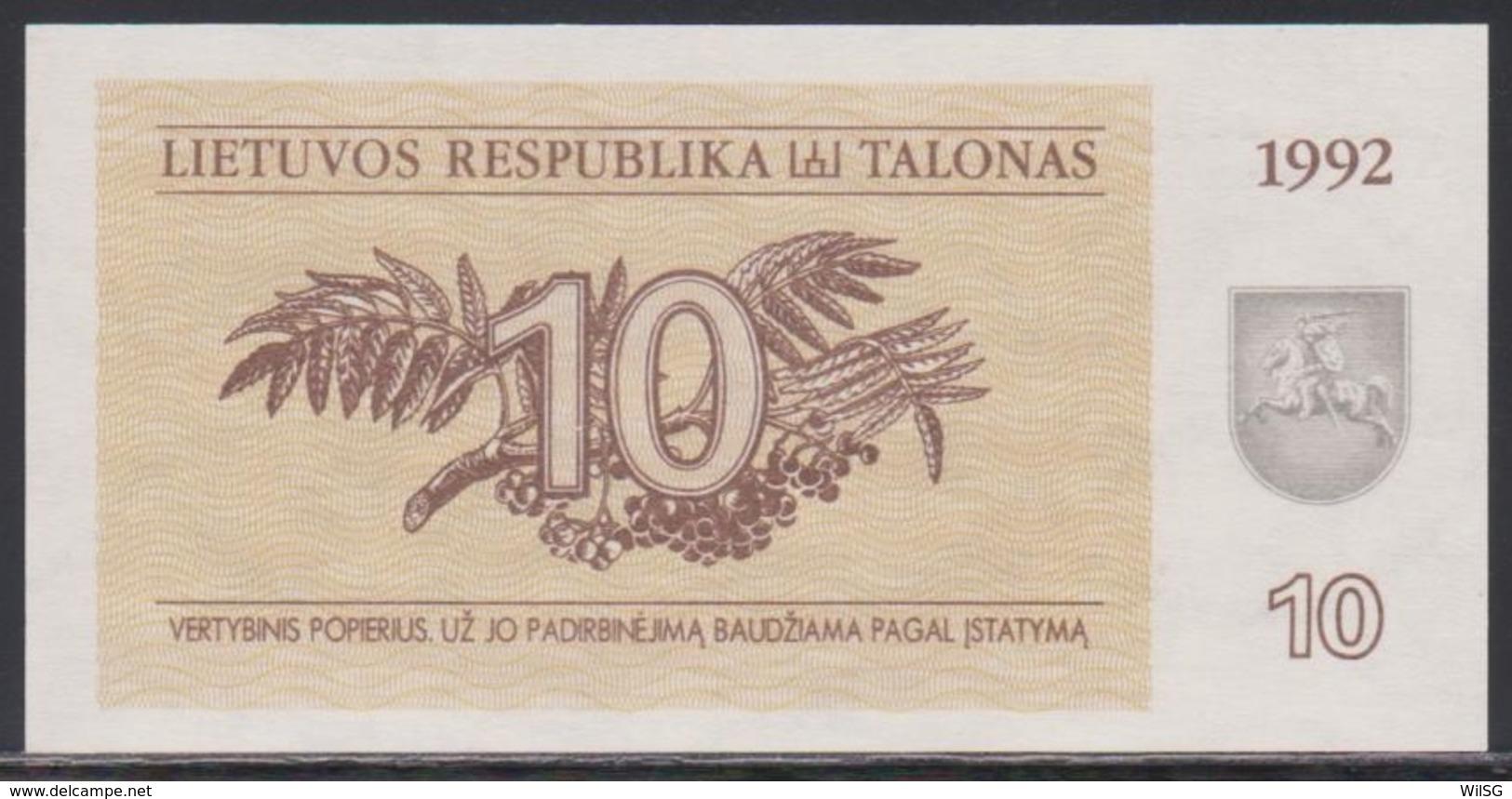 Lithuania 10 Talonas 1992 UNC - Lithuania