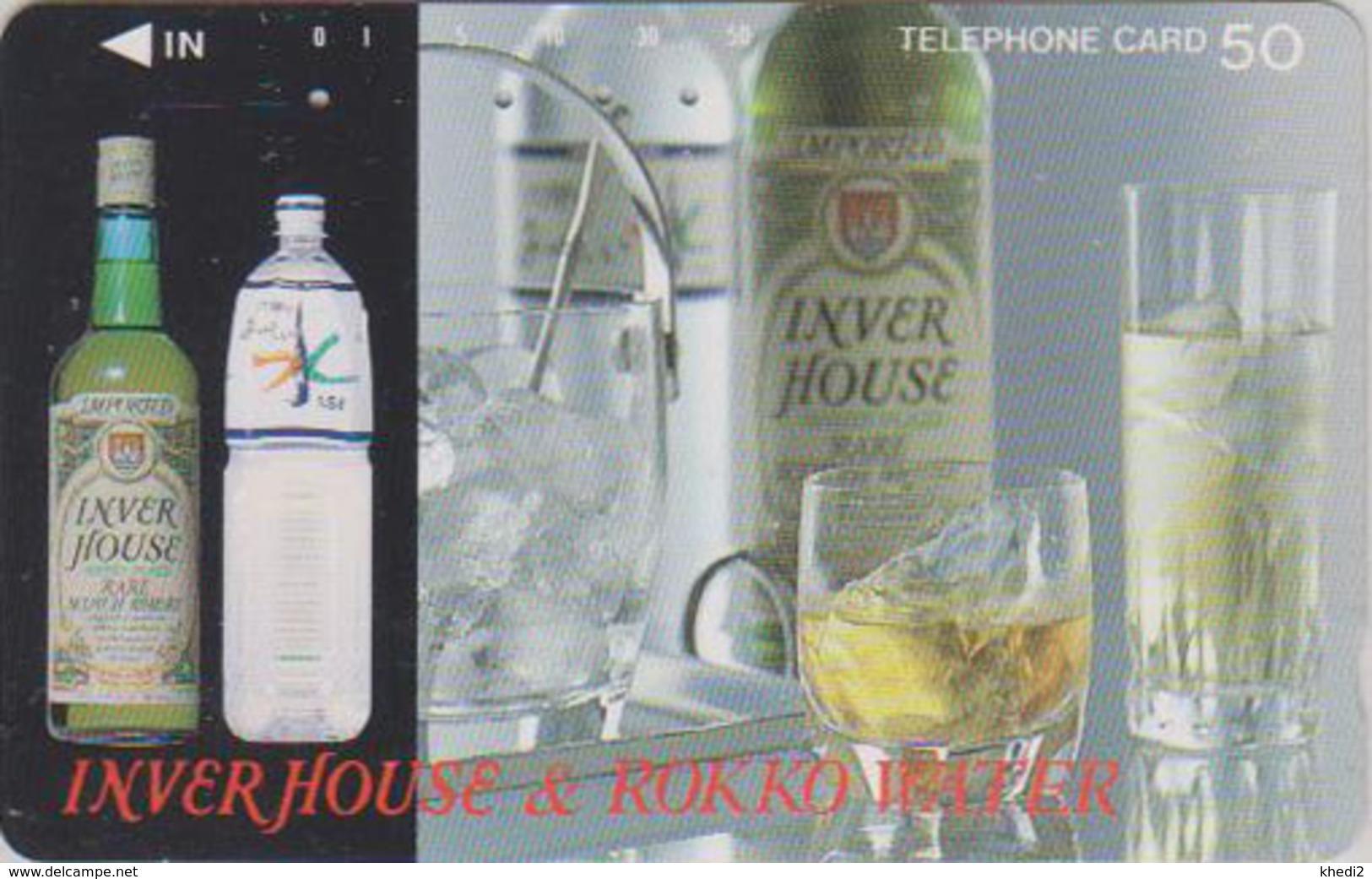 Télécarte Japon / 110-011 - ALCOOL - WHISKY - INVER HOUSE & ROKKO WATER SCOTLAND - ALCOHOL Japan Phonecard - 901 - Lebensmittel