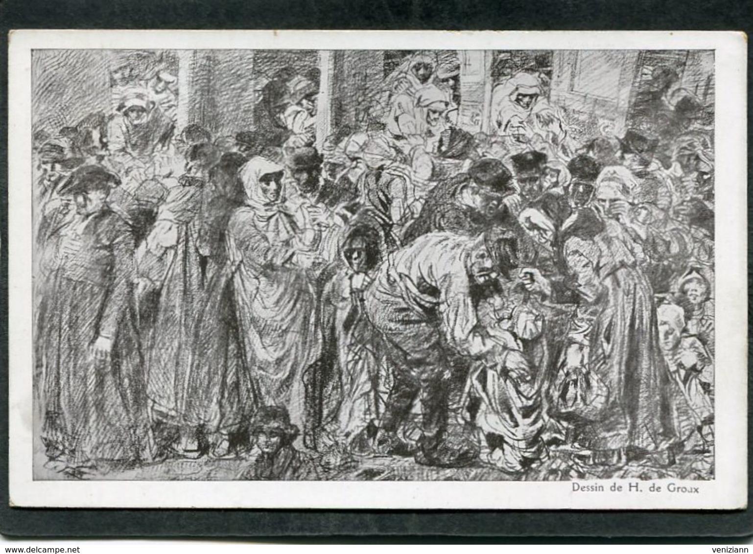 CPA - Illustration De Groux - JOURNEE FRANCAISE DU SECOURS NATIONAL - Guerre 1914-18